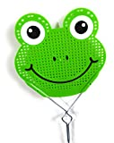 Essentials Fly Swatter Killer and Bug Long Metal Handle ( 19 inch ) Hand Swatters for Flies Metal Handle Fly Swatter (Green frog)