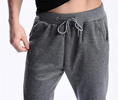 Chándal Cintura Adolescentes Gris Oscuro Jogging Hop De Hip Cortos Baja Pantalones Deportivos Cómodo Battercake Para Hombres Hwzqa6P