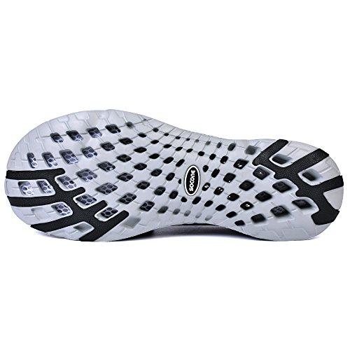 Feetmat Frauen Wasser Schuhe Mesh schnell trocknende Strandschuhe Dunkelgrau