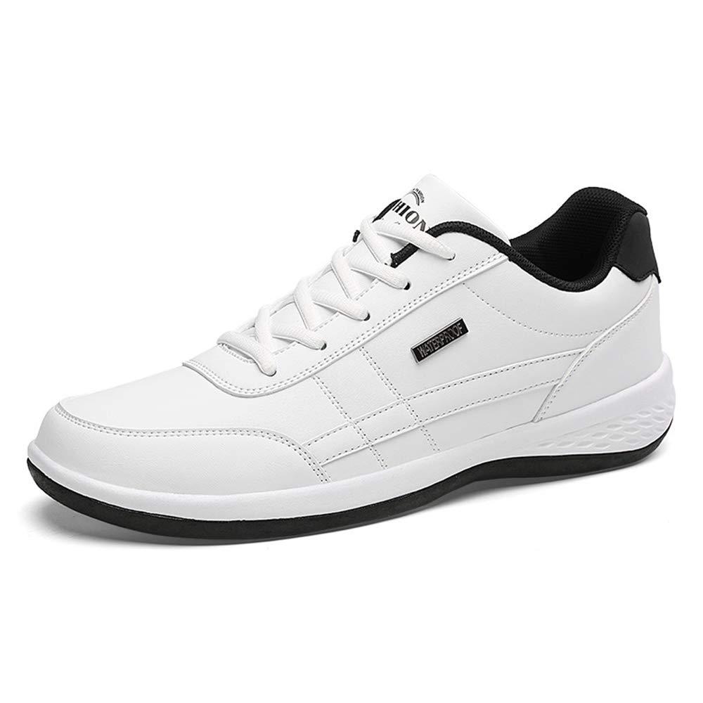 Ywqwdae Sport-Schuhe Oben der Männer im Freien schnüren Sich Oben Sport-Schuhe beiläufige Nicht Beleg-Breathable laufende Schuhe (Farbe   Weiß, Größe   EU 43) 1f6f7e