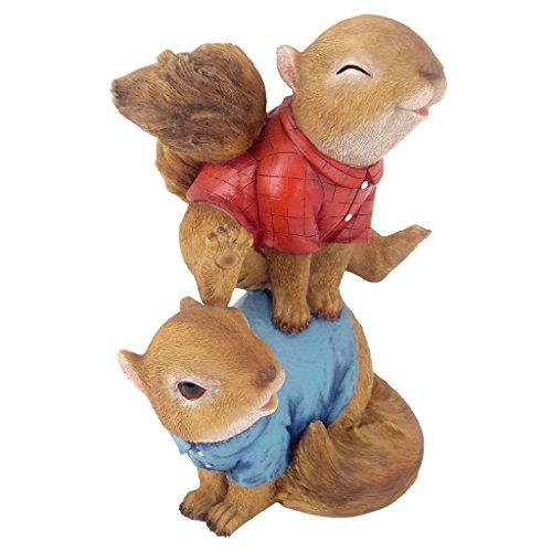 Design Toscano Leaping Squirrels Garden - Squirrel Welcome