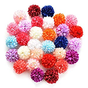 Silk Flowers in Bulk Wholesale Artificial Carnation Flower Head Handmade Home Decoration DIY Event Party Supplies Wreaths 30pcs/lot Approx 4cm 7