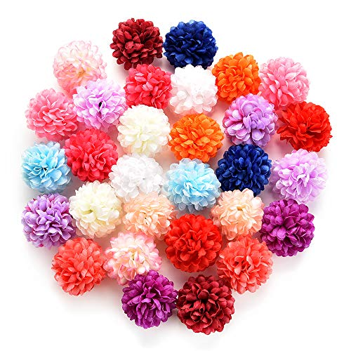 Fake-flower-heads-in-bulk-wholesale-for-Crafts-Silk-Carnation-Artificial-Pompom-Flower-Head-Mini-Hydrangea-Home-Wedding-Decoration-DIY-Wreaths-Party-Birthday-Decor-30pcs-45cm-Orange