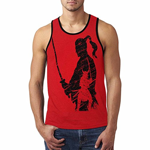 Japanese Samurai Men's Tank Tops Sleeveless Shirt Gym Workout (Art Print Tank Top)