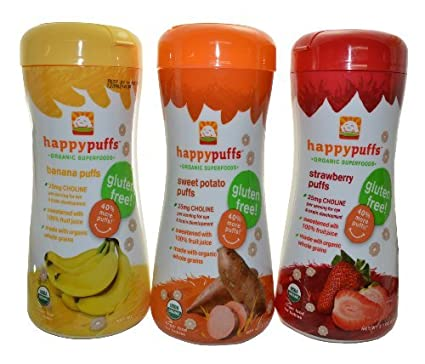 Happy baby Organic burdel 2.1 Oz de , 3 Pack (1 fresa, 1 Bananna