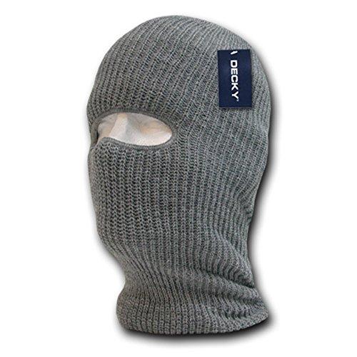 1 Winter Ski (DECKY Face Mask 1 Hole Beanie, Heather)