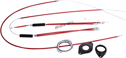 Upper + Lower Spinner Rotor Different color BMX Gyro Brake Cables Front Rear