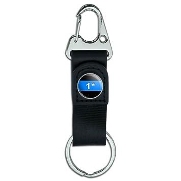 Cinturón Clip Llavero mosquetón de cuero Tela clave Anillo ...