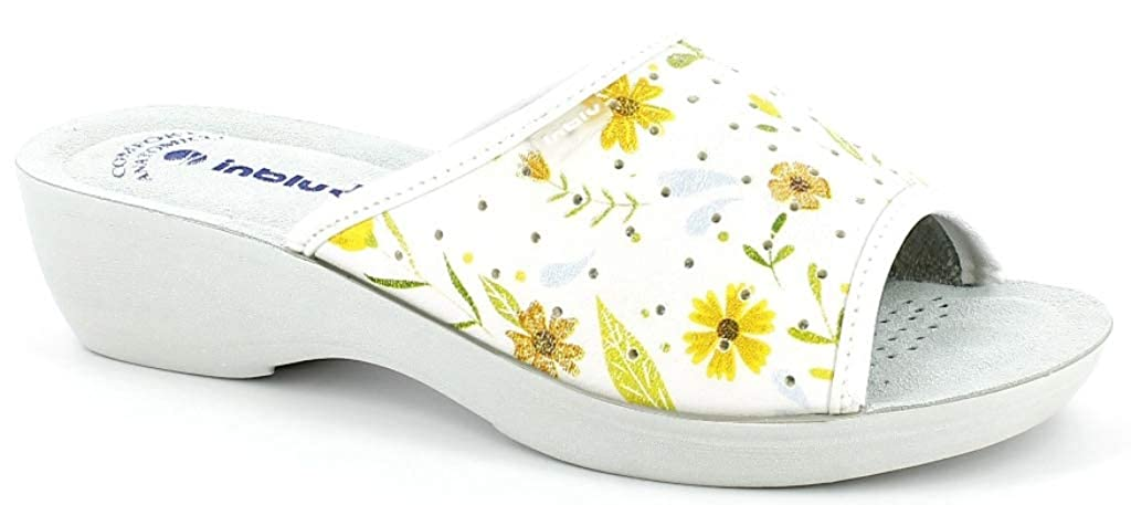 INBLU Pantofole Ciabatte SANITARIE Donna MOD PL-51 Bianco