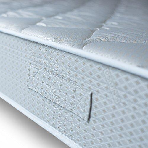 Materasso Singolo Kolla 80x190 in Poliuretano Alto 20cm Tessuto Ricamato Ignifugo Ergonomico Anallergico Gt Materassi Antiacaro- Antibatterico