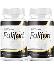 (2 Pack) Folifort Hair Growth Pills Felfort Extra Strength Vitamins Reviews Suppliment (120 Capsules)
