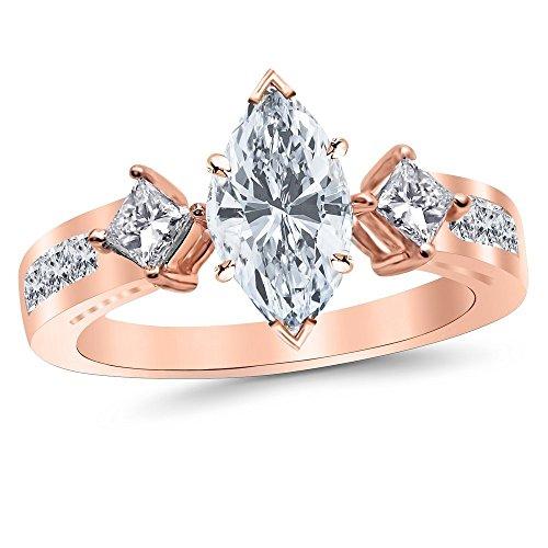 0.54 Ct Princess Diamond - 7
