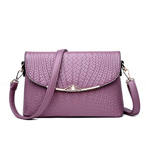 Las Gris 27 Tamaño Mini color Señoras Salvaje Hombro 9 Purple Portátil Partido Trabajo Bolso Diagonal Mujeres Del La Oscuro Moda De 18cm Zx0vU