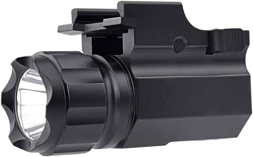 Teabelle Luz de pistola Impermeable Compacto Glock Táctico Linterna CREE XP-G R5 LED 210 Lumen Antorcha de Mano Montaje Rápido Compatibles Glock 17 19 21 22 30 43 48