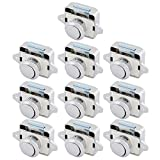 Trycooling Zinc Alloy Push Button Drawer Catch Lock Keyless Door Cupboard Latch Knob for Cabinet/RV/Boat (10Pcs)