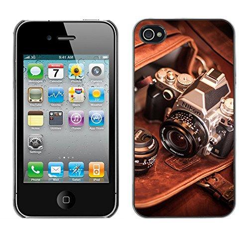 Premio Sottile Slim Cassa Custodia Case Cover Shell // F00009642 caméra // Apple iPhone 4 4S 4G
