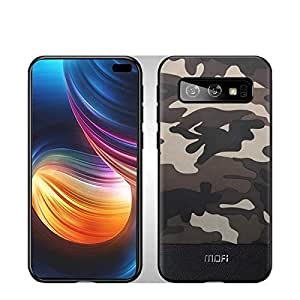 MOFI Samsung Galaxy S10 (Plus) Case, Camouflage Style Black and Brown, Flexible frame