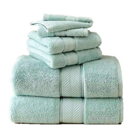 Better Homes and Gardens Thick and Plush 6-Piece Cotton Bath Towel Set - AQUIFER