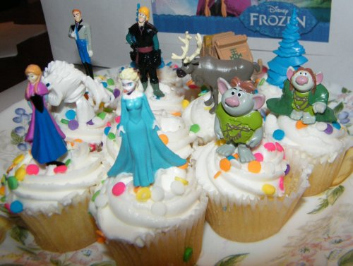 Disney Frozen Movie Figure Deluxe Cake Toppers Cupcake