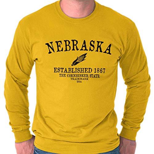 Classic Teaze Nebraska State - Trademark Printed Long Sleeve Tee Shirt