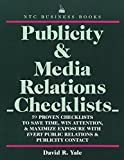 img - for Publicity & Media Relations Checklists book / textbook / text book
