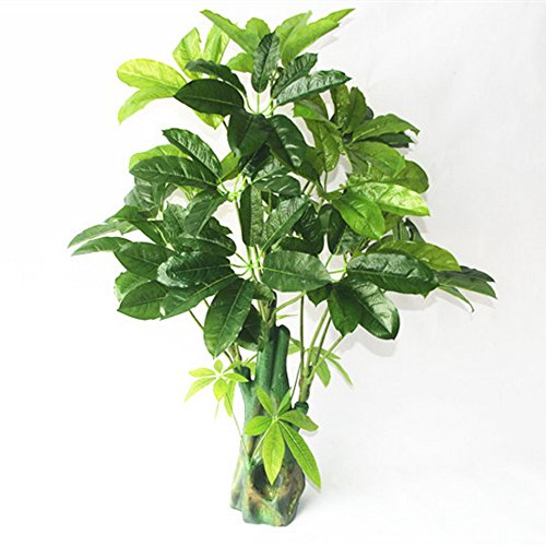 Artificial Plants Money Tree 100cm Tall, Large Silk Green Le