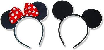 Juego de 2 orejas de Mickey Mouse para disfraz de Minnie Mouse ...