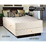 Grandeur Deluxe Queen Size (60x80x12) Mattress and Box Spring Set - Fully Assembled, Good for your back, Superior Quality - Luxury Height, Long Lasting and 2 Sided - By Dream Solutions USA