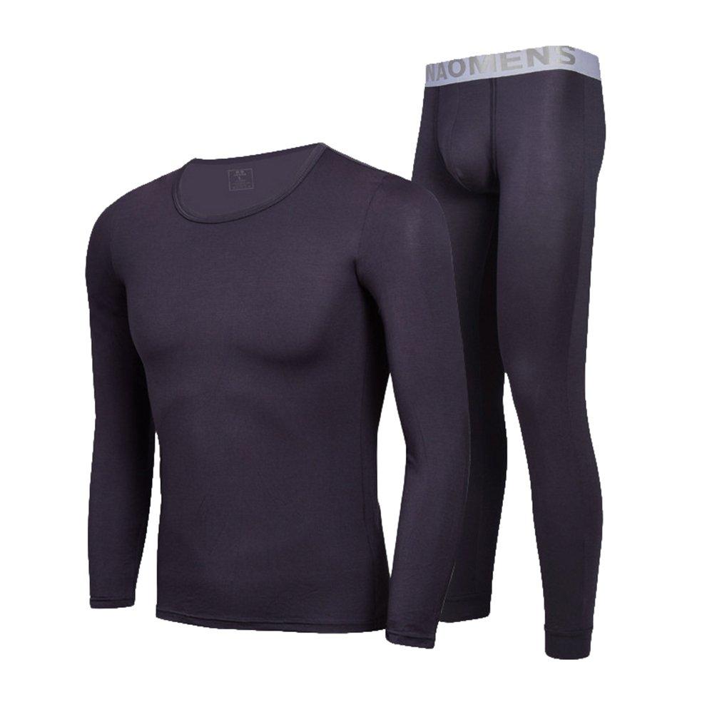 YiLianDa Herren Thermo Unterwäsche Set Modal Lange Ärmel Hemd Und Lange Unterhosen