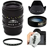 Oshiro 35mm f2 Wide Angle Full Frame Prime Lens with Hood, UV, 10x Macro for Sony NEX E-Mount a7r, a7s, a7, a6000, a5100, a5000, a3000, NEX-7, NEX-6, NEX-5T, 5N, 5R and 3N Digital Cameras (EOS-NEX)