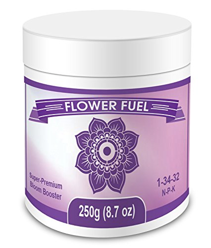 High Phosphorus Soil - Flower Fuel 1-34-32, 250g - The Best Bloom Booster For Bigger, Heavier Harvests (250g)