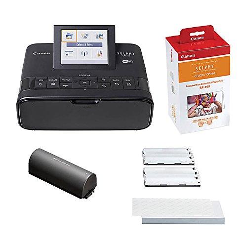 Canon impresora de fotos Selphy CP1300 recargable Bundle con ...
