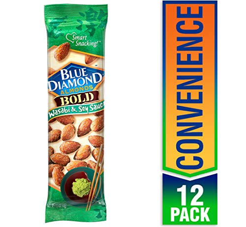 Blue Diamond Almonds, Bold Wasabi & Soy, 1.5 Ounce (Pack of 12) (Blue Diamond Almonds Wasabi And Soy Sauce)