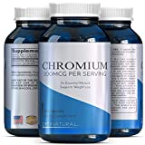 Chromium Picolinate Capsules – Weight Loss Metabolism – 200mcg Pills Metabolize Fat Carbs Protein + Support Insulin Function Healthy Cholesterol + Blood Sugar Levels – Trace Mineral For Sale