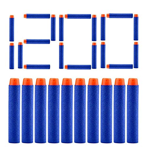 AKABELA (ASTM and CPC Certified | 1200 Darts) Refill Darts 1200 PCS Bulk Bullets Foam Darts Pack Compatible with Nerf Guns N-Strike Elite Series Blaster Toy Guns Kids (Blue)