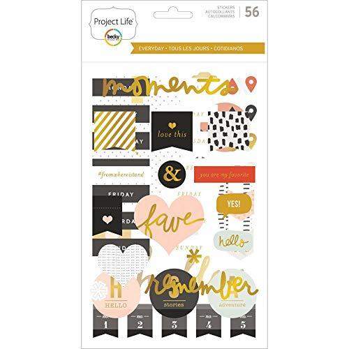 Project Life Halloween Kit (Project Life Sticker Core Edition-Everyday-Chipboard-Gold Foil (56)