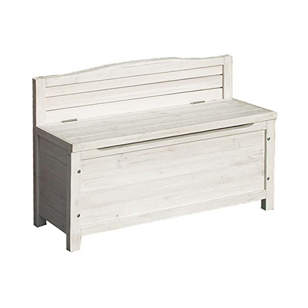 ベンチストッカー 収納庫 物置 天然木 収納付き ベンチ 2人掛け 幅約90cm:int-ss-4833370 (ホワイト) B077YTQK6F ホワイト ホワイト