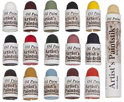 Jack Richeson 121306 Shiva Oil Paintstik, Mini Matte Assortment, Set of 16