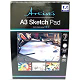 Spiral Sketch Pad Sketching Book Cartridge Paper Pad Drawing Pad Hardback 70gsm (A3 Spiral Sketch Book)
