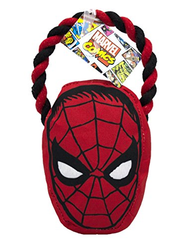 Marvel Comics Spiderman Rope Pull Toy for Dogs | Super Hero Toys for All Dogs and -