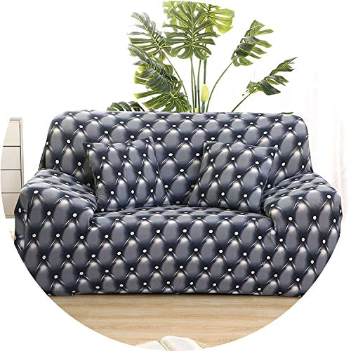 Little Happiness- Plaid Sofa Cover Stretch Furniture Covers housse canape Geometric Sofa Covers for Living Room slipcover copridivano Couch Cover,Color 3,2-Seater(145-185cm) ()