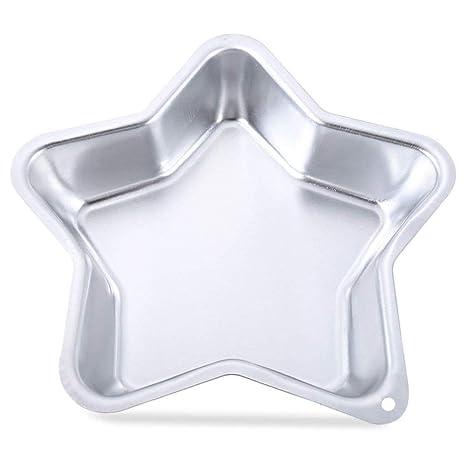 ZYCX123 Inicio Producto Molde para Pasteles de Estrella de Cinco Puntas de 23.50 x 23.50 x