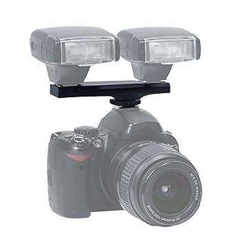 Dual Hot Shoe Flash Speedlite Splitter Splitter para Nikon D750 ...