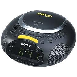 Sony ICF-CD832PS Psyc CD / AM / FM Stereo Clock Radio (Black)