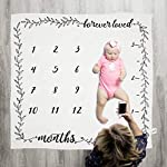 Pondering-Pine-Organic-Baby-Monthly-Milestone-Blanket-Forever-Loved-for-Newborn-Girl-or-Boy-Soft-Photography-Background-Prop-1-to-12-Months