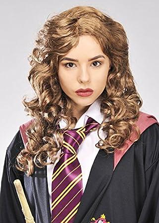 Magic Box Womens Hermione Granger Estilo marrón Rizado Peluca ...