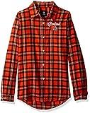 Cleveland Browns 2016 Wordmark Basic Flannel Shirt - Womens Medium
