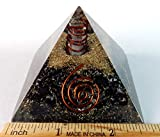 Charged Chakra New Orgonite Orgone Natural Black Tourmaline Pyramid Crystals Gemstones Copper Metal Mix Reiki Chakra