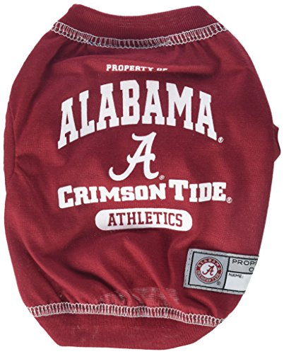 NCAA Alabama Crimson Tide Dog T-Shirt, X-Small