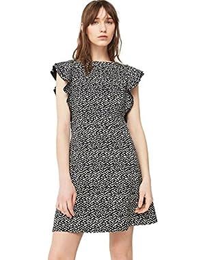 Mango Women's Textured Ruffled Dress